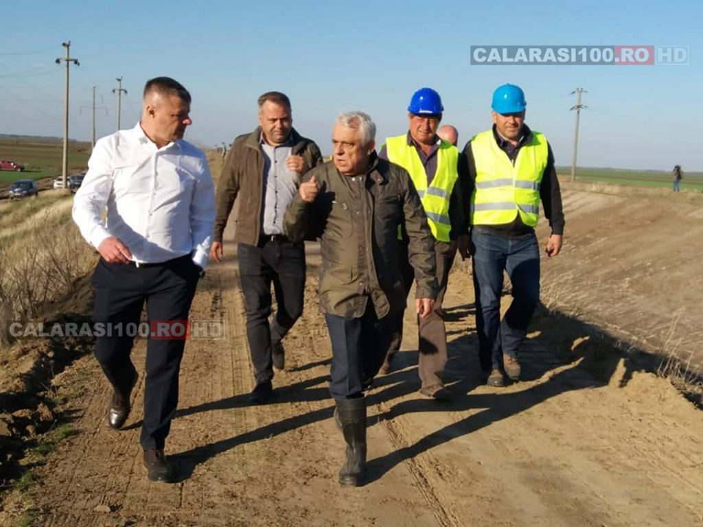 Președintele PSD Călărași, Iulian Iacomi a vizitat împreună cu ministrul Agriculturii, Petre Daea stadiul lucrărilor la amenajarea de irigații Gălățui-Călărași