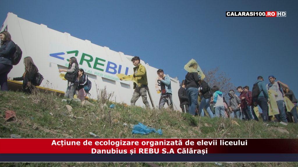 """VIDEO. Acțiune de ecologizare organizată în cadrul Programului """"EcoProvocarea"""" de elevii liceului Danubius, eveniment sprijinit de REBU S.A Călărași"""