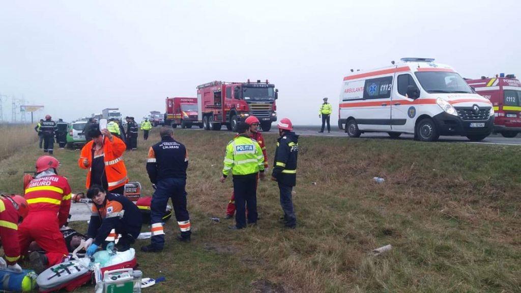 Accident rutier grav pe DN 21 între Călărași și Slobozia, soldat cu patru victime dintre care una decedată